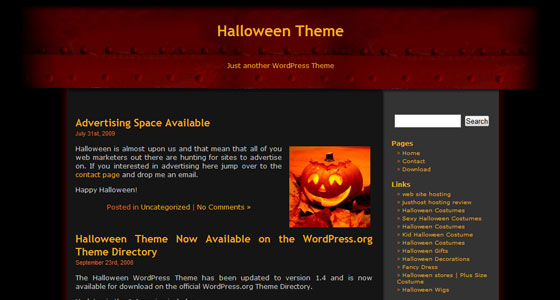 Myspace Website Template 45 Myspace Halloween Themes Templates