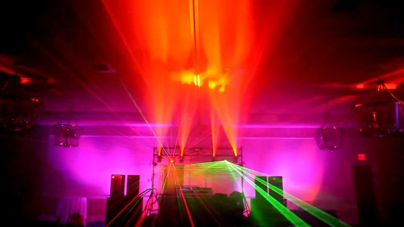 DJ Lighting Light Show Lasers Scanners Uplights Deejay lights, DJ Maskell lighting demo with Martin Mania scx500 chauvet adj american dj