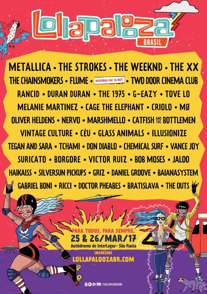 Lollapalooza 2017, Line Up