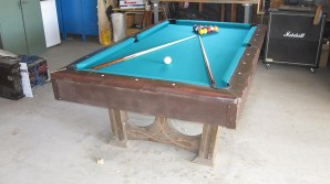 freshly refelted pool table