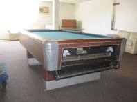old Fischer coin-op pool table