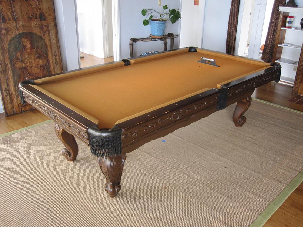 Surprise one piece slate move dk billiards pool table - Slate pool table ...