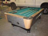 Valley pool table with new std. green felt