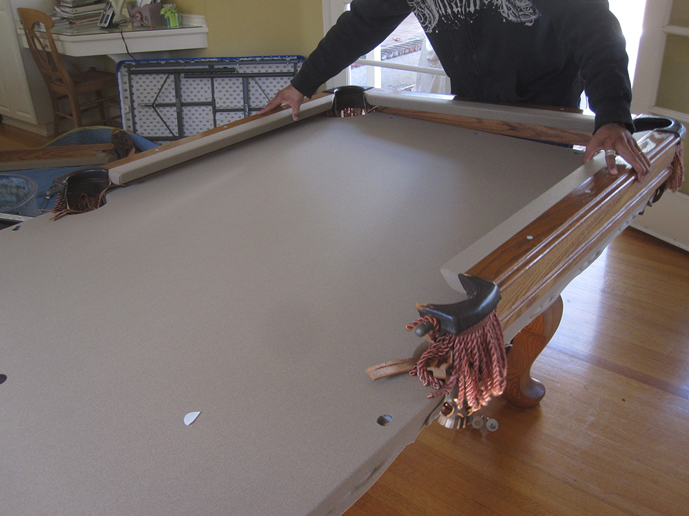 i ripped my felt dk billiards pool table movers