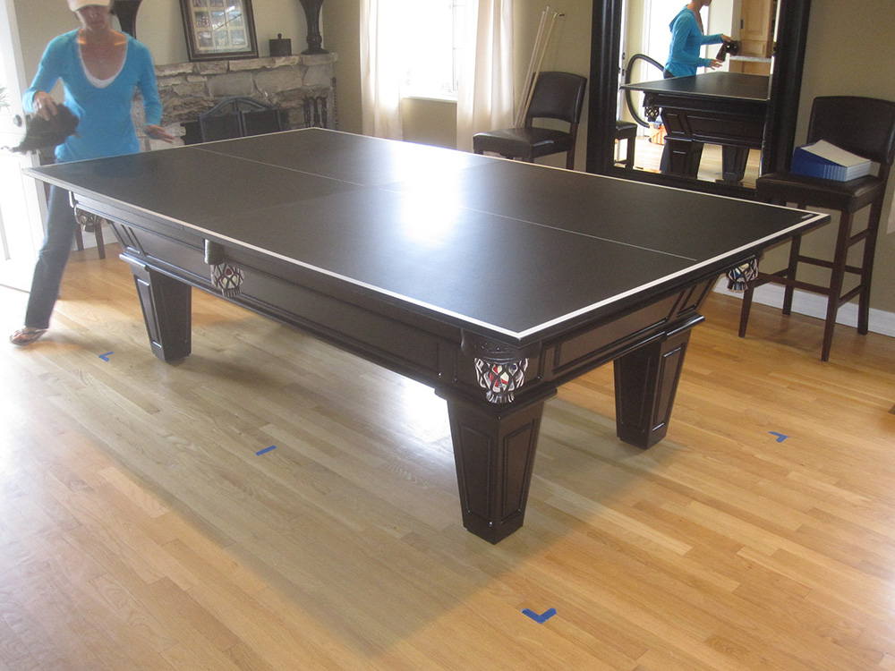 How to make room for a pool table in your home dk for How to build a billiard table