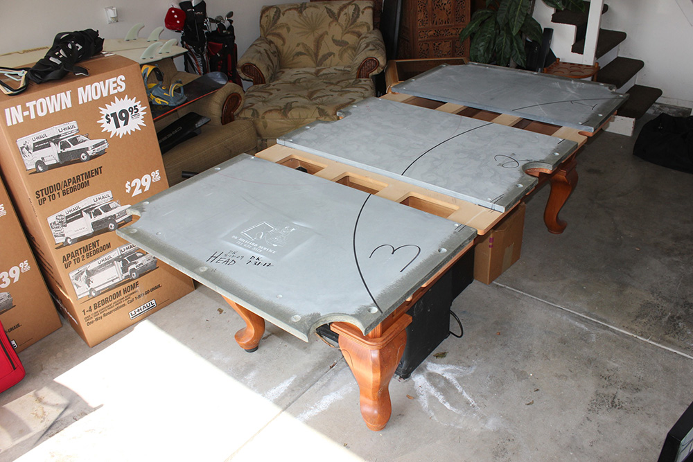 How to properly move a 7 billiard table dk billiards - Slate pool table ...