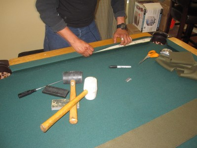 How To Moving A Pool Table - How to put felt on a pool table