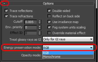 V-Ray Reflection Options