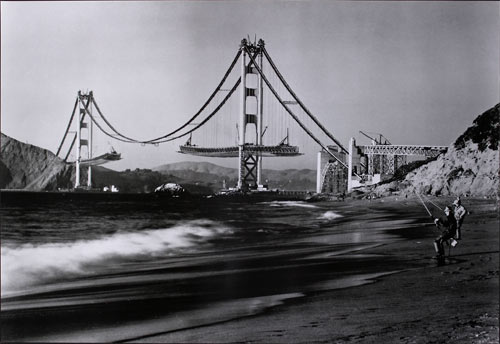 San Francisco Golden Gate Bridge Construction Poster