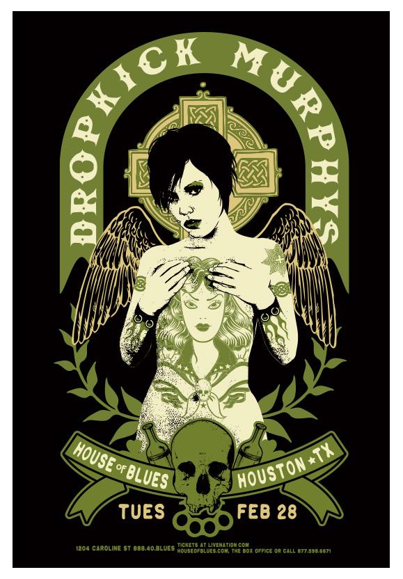 Black Rose Wallpaper Scrojo Dropkick Murphys Poster Dropkick 1202 Ebay