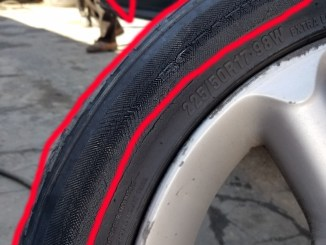 This tire was still being driven on while it was flat