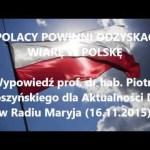 Polacy powinni odzyskać wiarę w Polskę