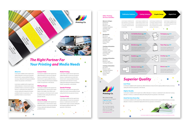 InDesign template for AGT International product data sheets - pamphlet layout template