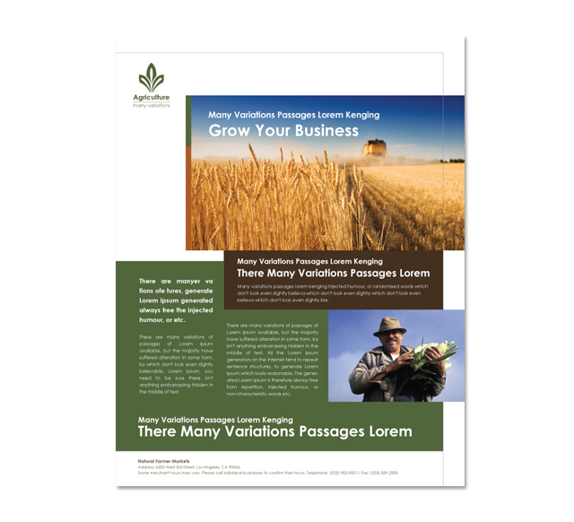 Farming Agriculture Flyer Template