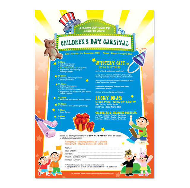 Children\u0027s Day Carnival Flyer Template