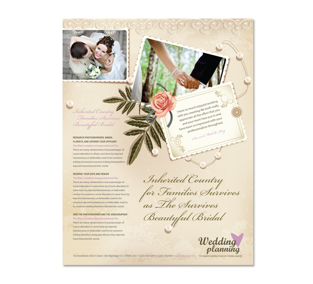 Wedding Planner Flyer Template - wedding brochure template