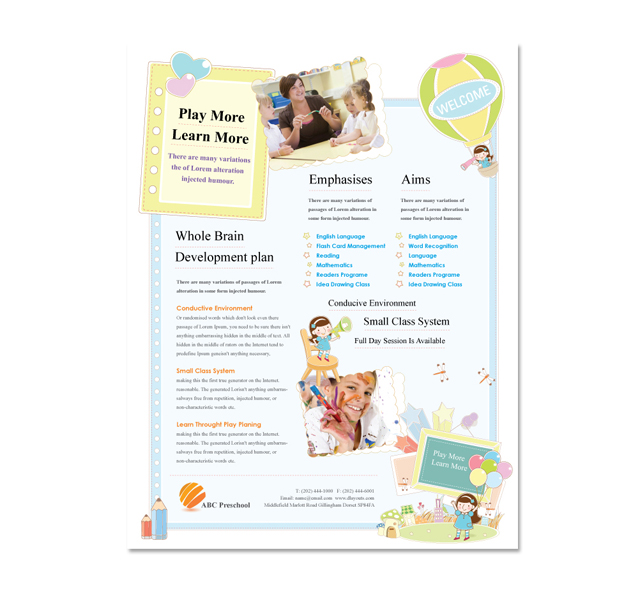 Preschool Flyer Template - dLayouts Graphic Design Blog