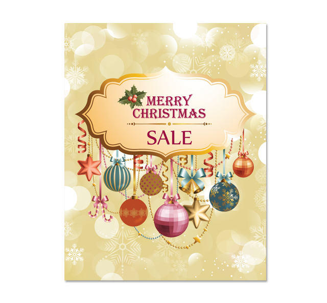 Christmas Sale Poster Template - dLayouts Graphic Design Blog