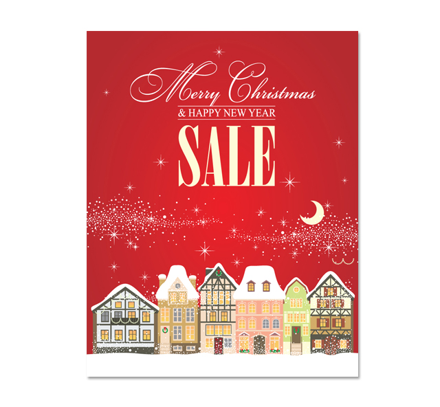 Christmas Sale Poster Template - for sale poster template