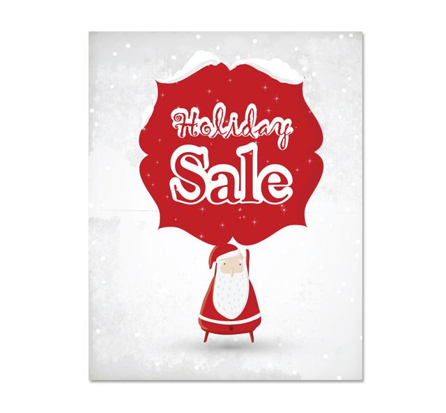 Red Santa Sale Poster Template - dLayouts Graphic Design Blog - sale poster design