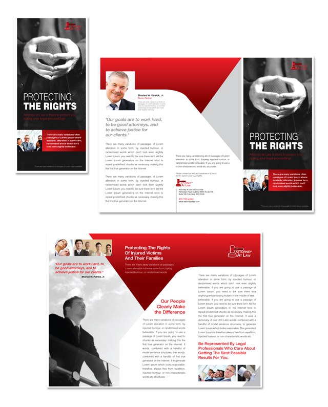 Attorney at Law Tri Fold Brochure Template - microsoft word tri fold brochure