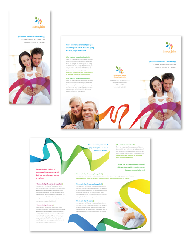 Pregnancy Options Counseling Tri Fold Brochure Template - dLayouts