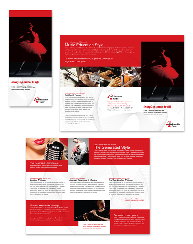 Arts Education Center Tri Fold Brochure Template - dLayouts Graphic