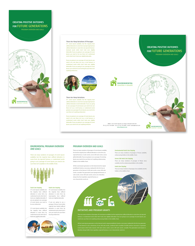Environmental Protection Tri Fold Brochure Template - dLayouts Blog