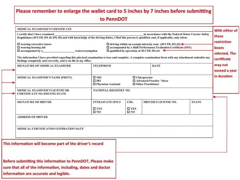 Self-Certification / Medical Examiner\u0027s Certification