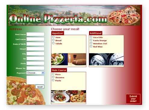 food order form template - food order form