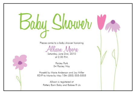 Baby Shower Invitation Templates Flower Garden Whimsy - Printable Baby Shower Invite