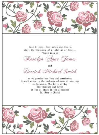 Free Printable Wedding Invitations Templates - free downloadable wedding invitation templates