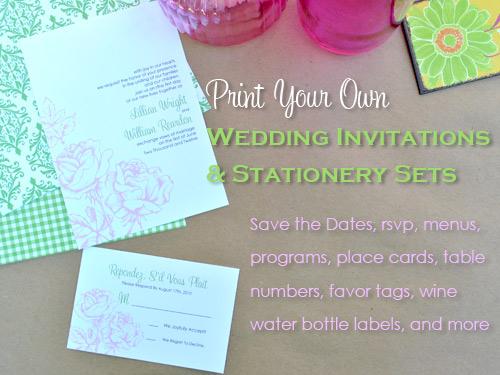 Print Your Own Invitation Kits Latest Pocket Wedding