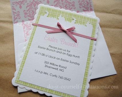 DIY Easter invitations Ideas