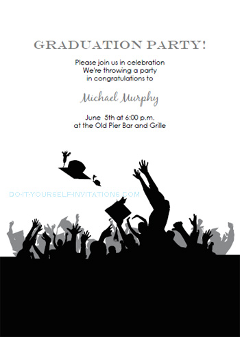 Free Printable Graduation Invitations Templates - free printable invitations graduation