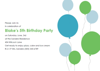 Free Printable Kids Birthday Party Invitations Templates