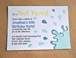 Make Your Own Pool Party Invitations