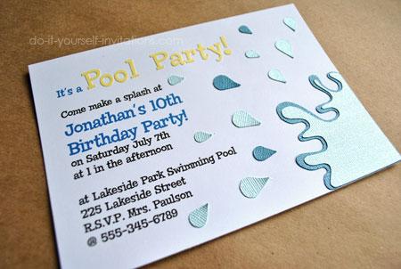 swimming party invitation template free - Baskanidai