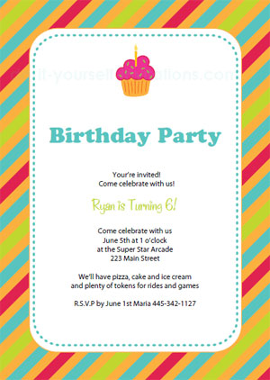Free Printable Birthday Party Invitation Templates - free birthday party invitation template