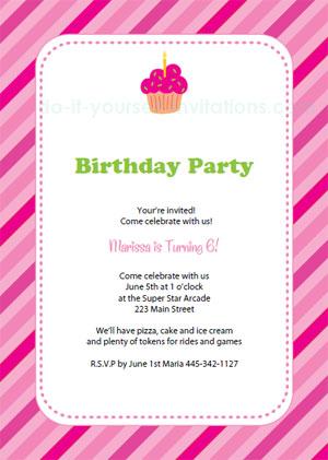 Free Printable Birthday Party Invitation Templates - birthday invitation letter sample