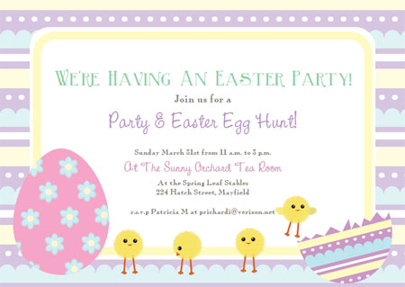 Free Printable Easter Cards Invitations - Invitations Templates