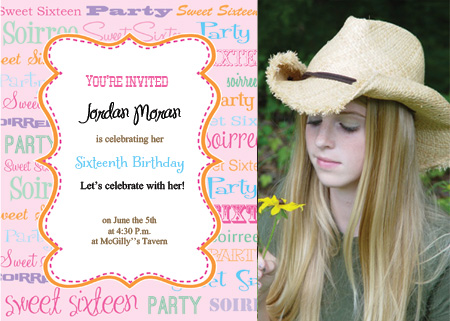 Printable Sweet Sixteen Invitations