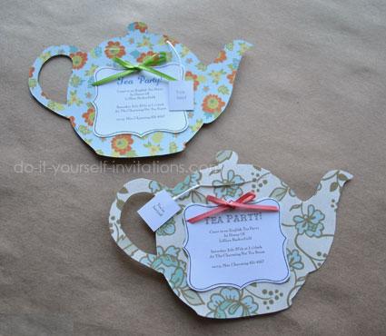 DIY Tea Party Invitations Cute And Crafty Tea Pots