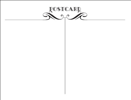 1800 postcards Free Printable Postcard Template
