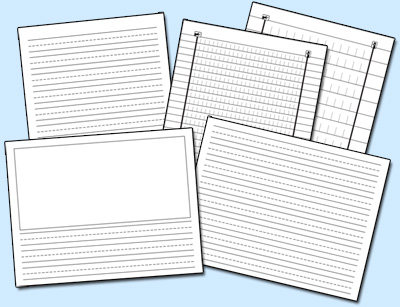 Do2Learn Educational Resources for Special Needs - horizontal writing paper