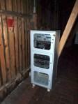 Fest installierte Musikanlage in der Tenne mit Notbeleuchtung und USV