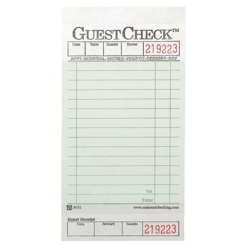 printable guest checks - Apmayssconstruction