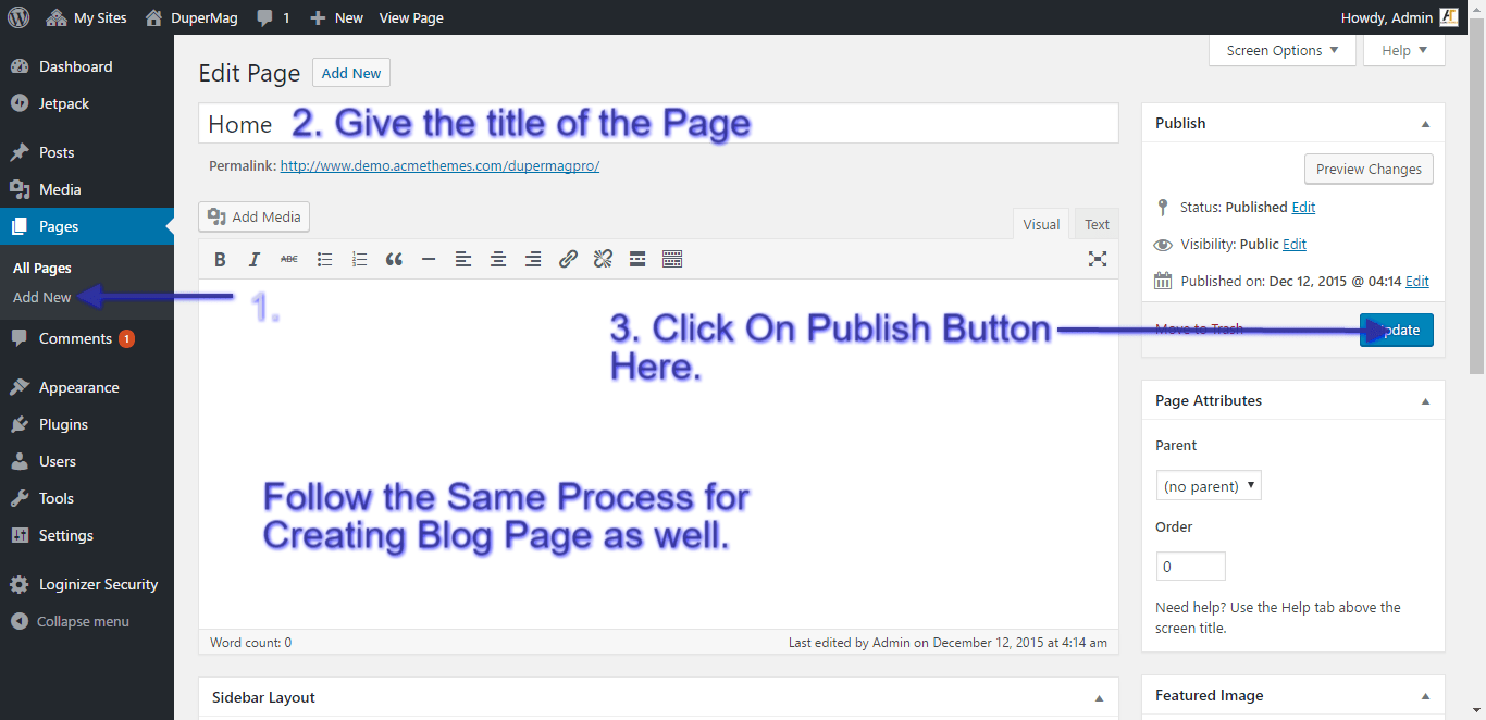 create-home-page