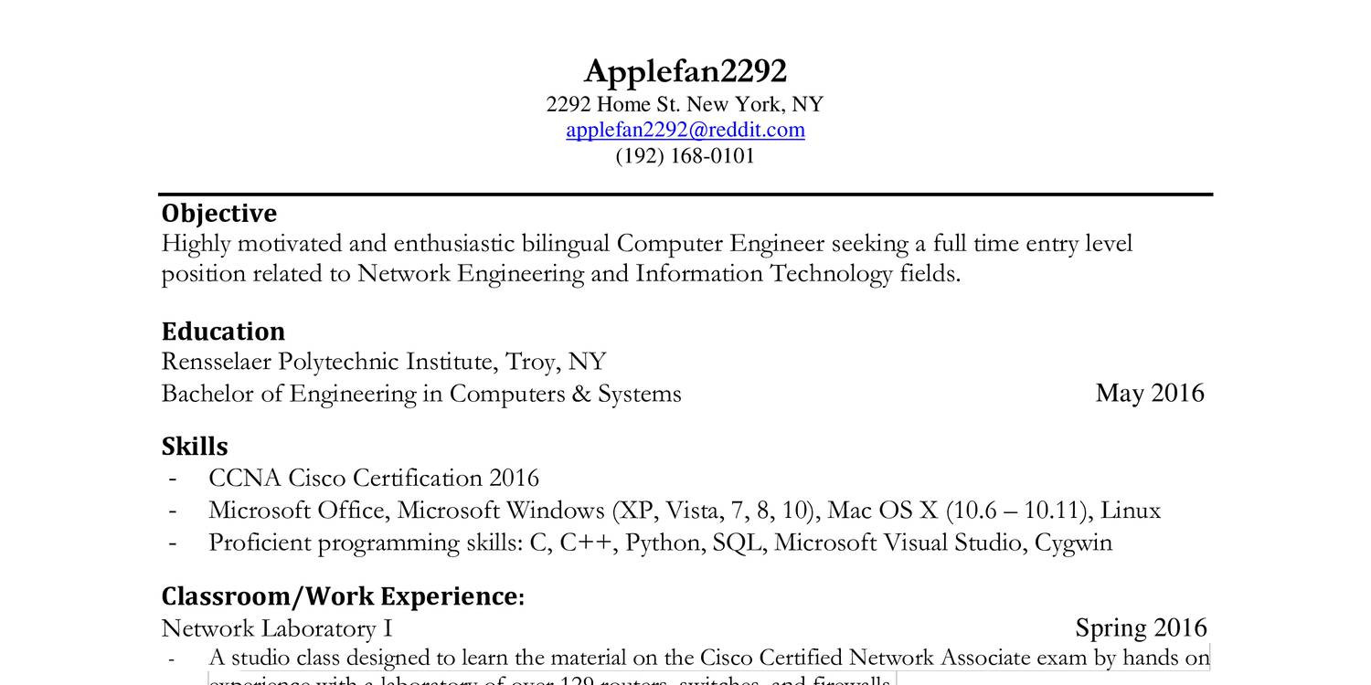 computer hardware and networking resume format simple resumes