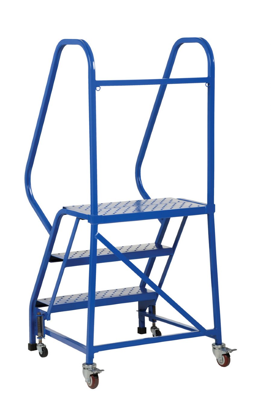 7 Step Portable Warehouse Ladders With 18 Wide Perforated